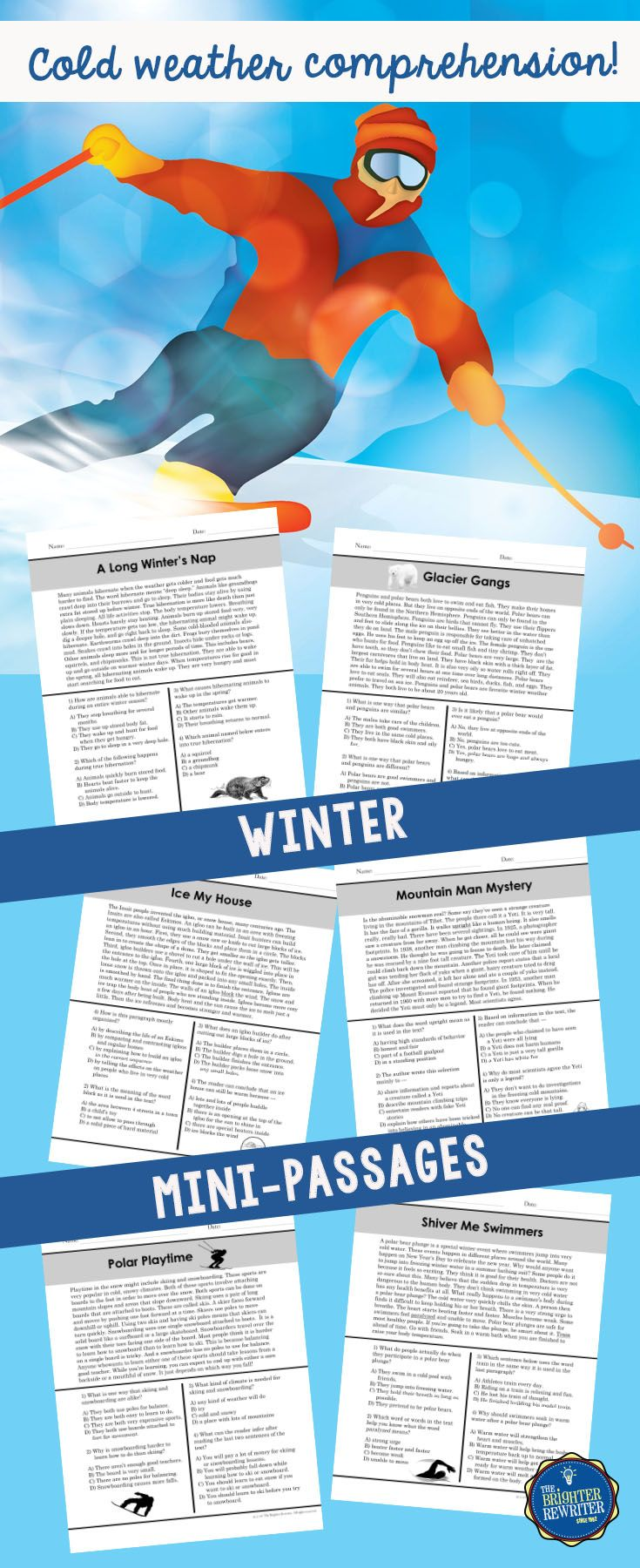 Winter Reading Passages | Winter Reading Plans | Pinterest | Reading ...