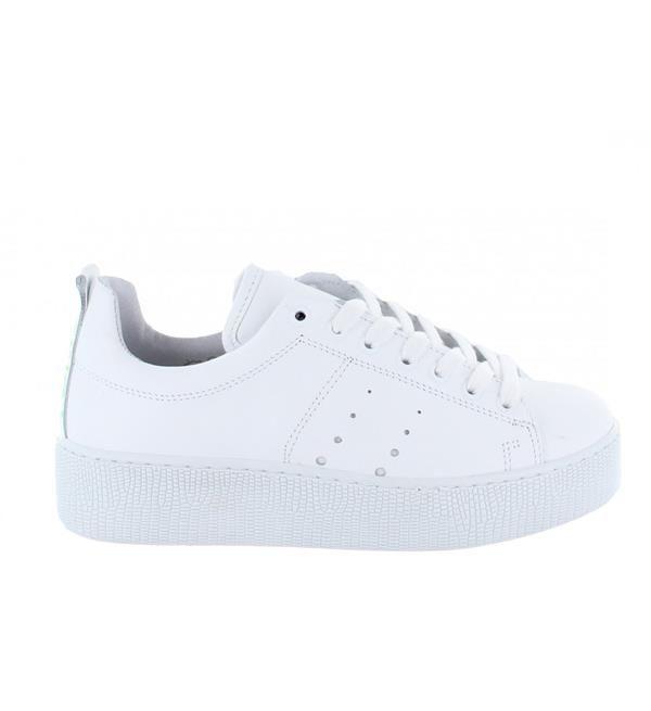 buy popular 3e704 099e7 Tango witte leren sneakers met dikke zool, model Chantal 10-f. Met print