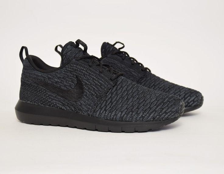 #Nike Flyknit Roshe Run Triple Black #sneakers   WefollowPics