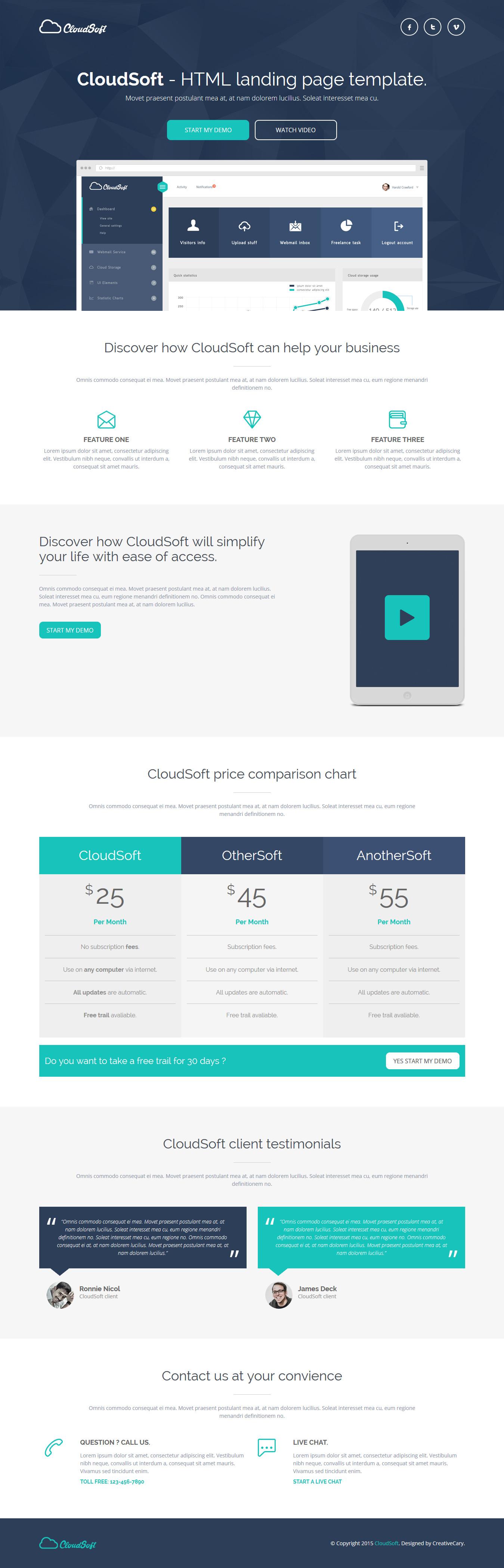 Cloud Soft - HTML Landing Page Template