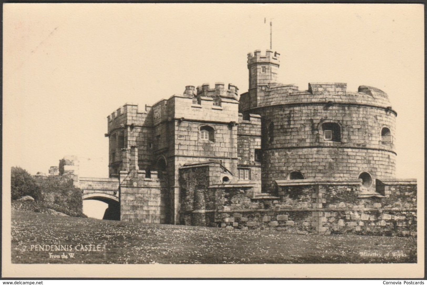 Pendennis Castle from the West, Falmouth, Cornwall, c.1960 - Ministry of Works RP Postcard