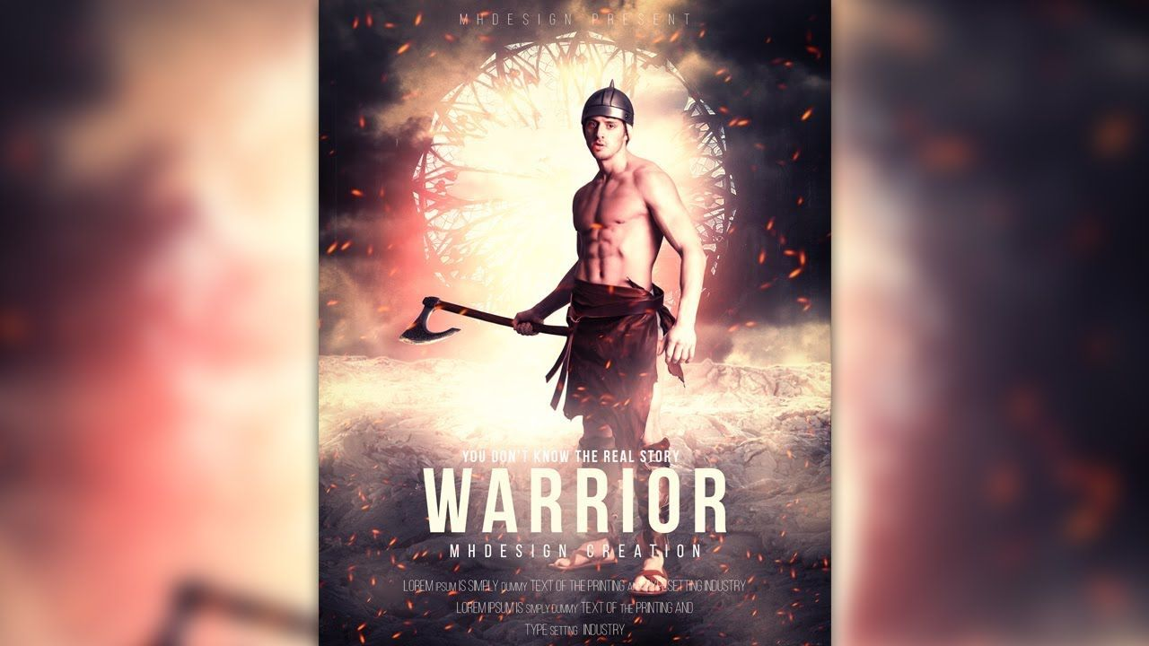 Photoshop tutorial design a warrior movie poster manipulation hey guys i am back with my new photoshop tutorial in this video tutorial i am gonna show you design a warrior movie poster manipulation effect in baditri Image collections