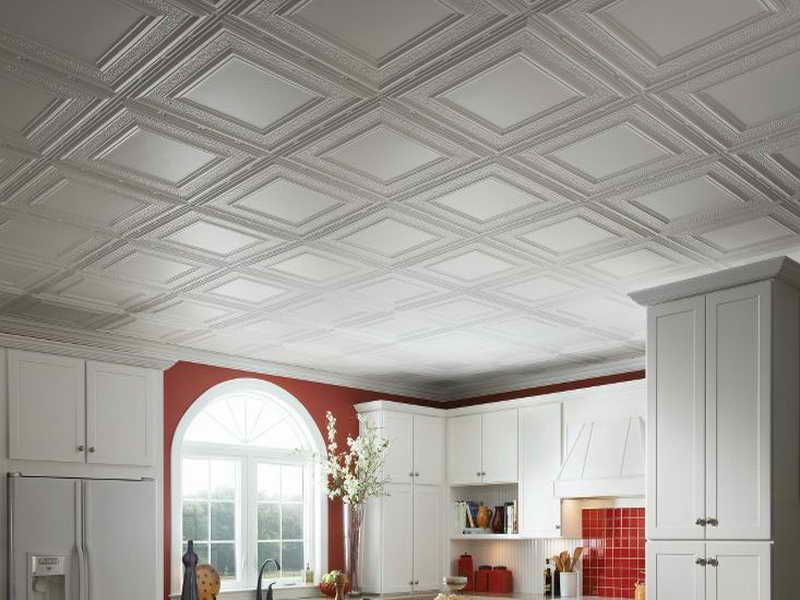 Buy Plastic Ceiling Tiles From Home Depot Spray Paint Metallic