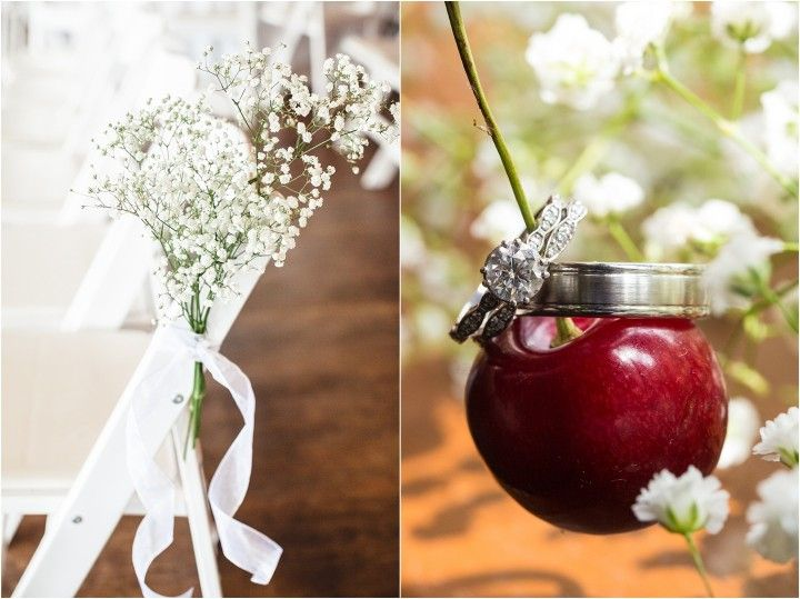 Wedding bouquets and ring photo with a cherry! Fairyland Club Wedding at Lookout Mountain, GA. Click to view more from this wedding!