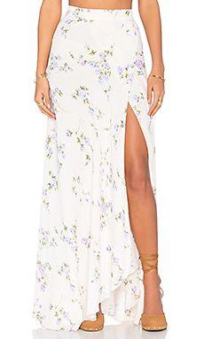 67b41e219f FLYNN SKYE Wrap It Up Maxi Skirt in Lavender Skye Saia Transpassada Longa