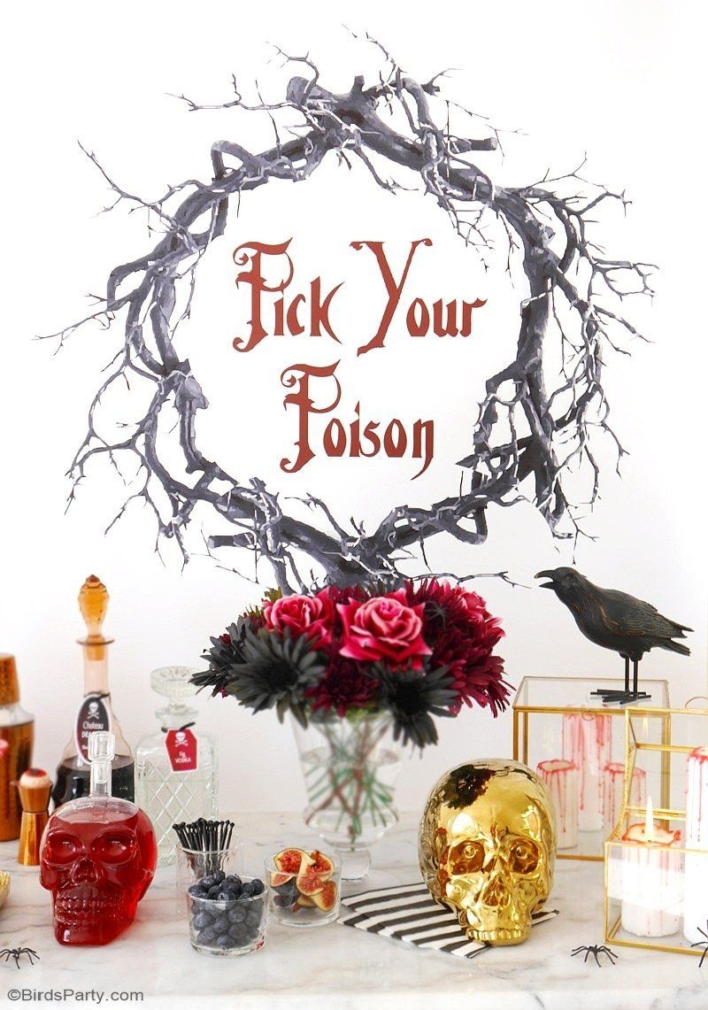 Creepy n\u0027 Chic Halloween Cocktail Party Ideas Chic halloween - Halloween Party Decoration Ideas Adults