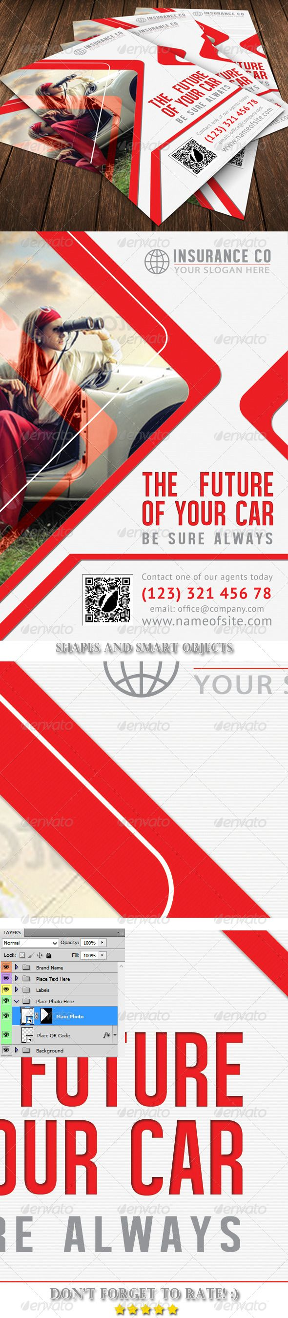 Auto Insurance Flyer Template Flyer Template Template And - Buy flyer templates