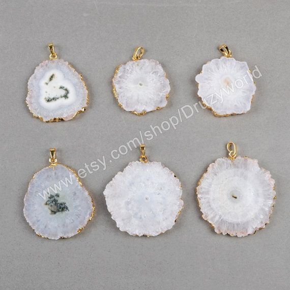 Wholesale Half Gold Plated Edge Natural Solar Quartz by Druzyworld