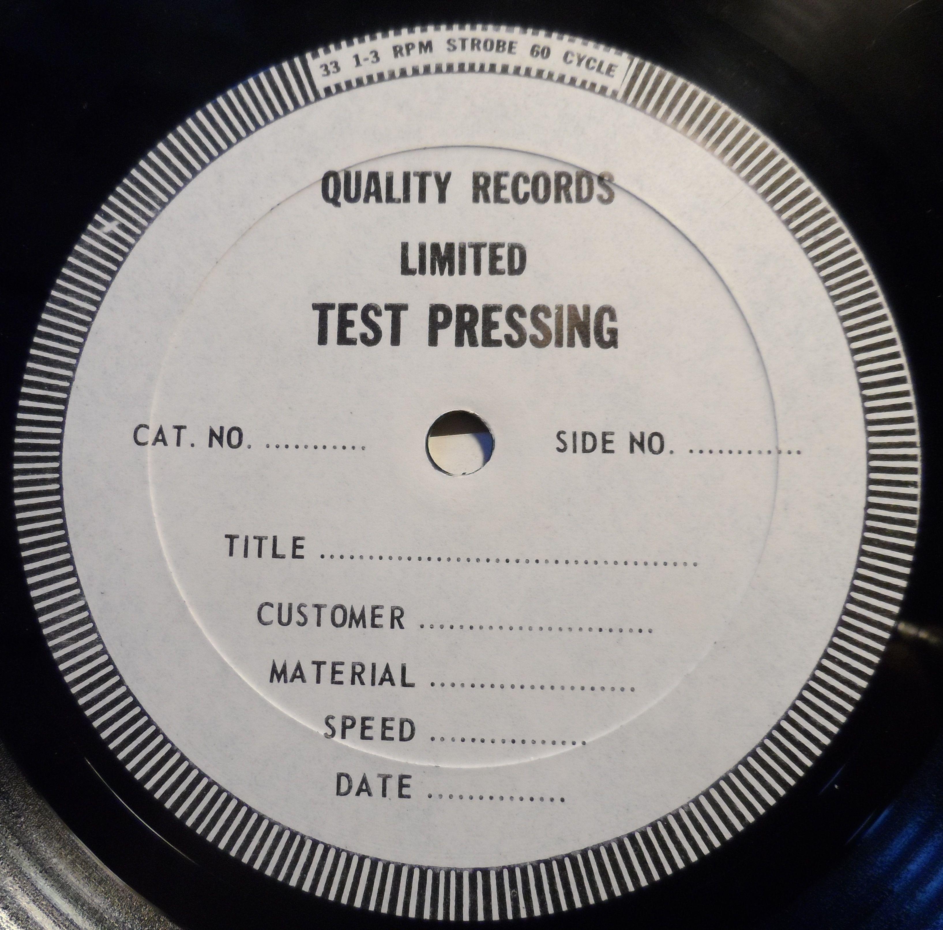 Lazarus Lazarus Test Pressing Album Lp Cover