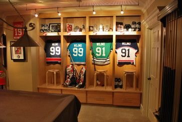 Sports Lockers Design Ideas Pictures Remodel And Decor Hockey Room Sports Pictures Display Man Cave Home Bar