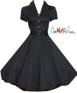 Black and white polka dot dress h&m canada