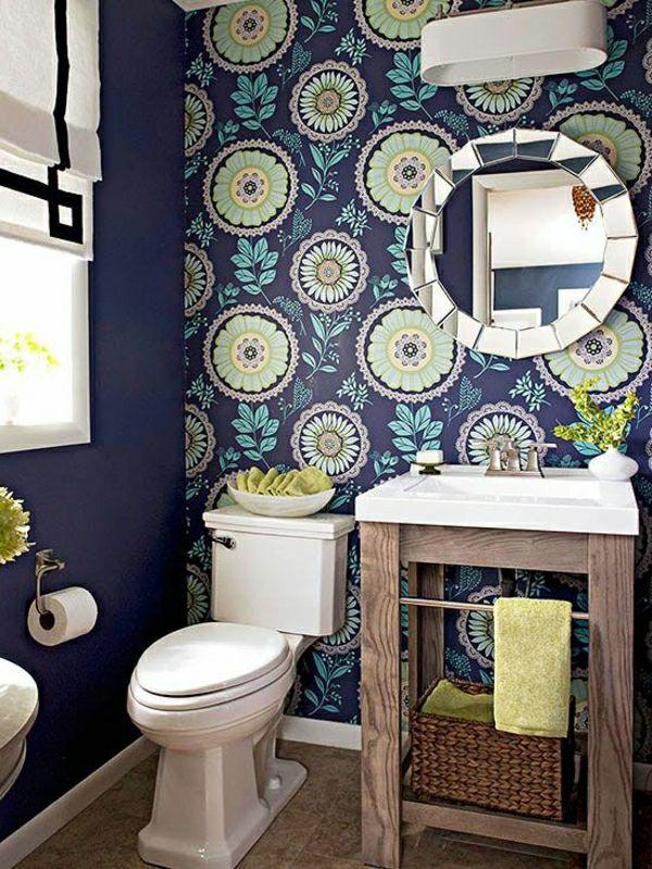 fantastische bunte tapete frs badezimmer - Fantastisch Welche Farbe In Welchem Raum