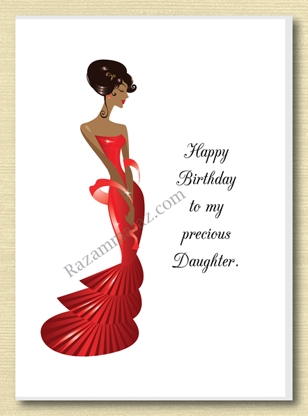 African American Daughter Birthday Card C With Images African
