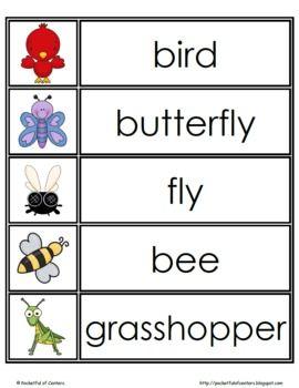 Spring Word Wall Words Spring Words Preschool Word