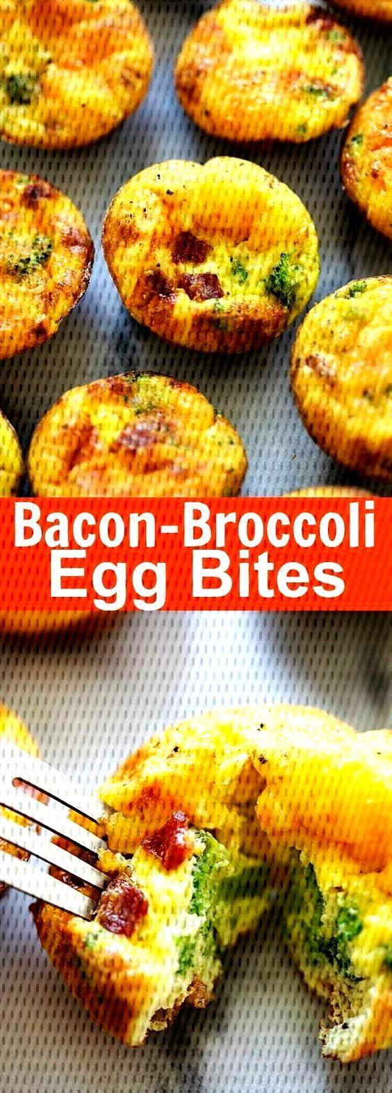 Bacon Broccoli Egg Bites - healthy, w...