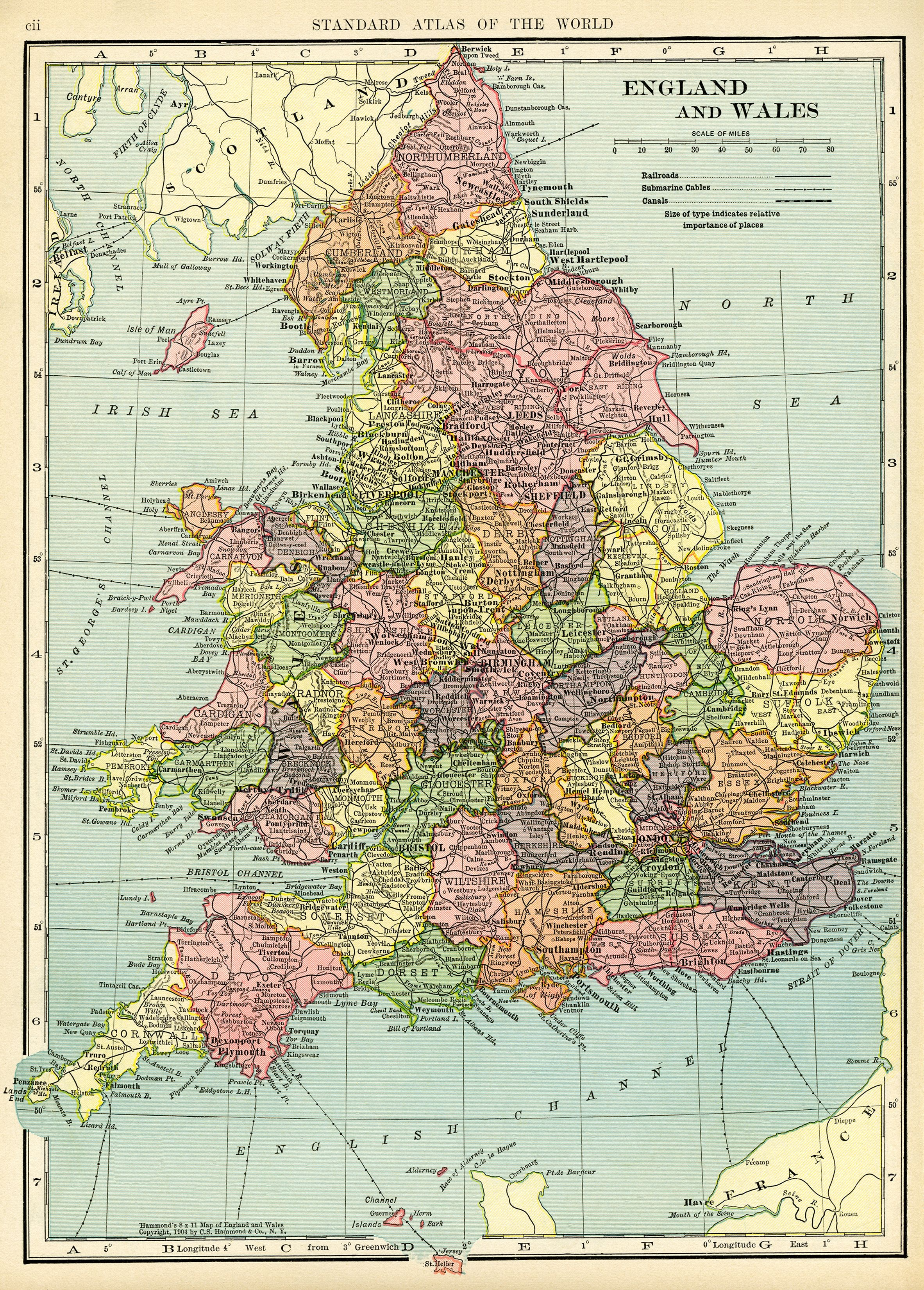 England and wales map vintage map download antique map c s map of england and wales free vintage image gumiabroncs Gallery