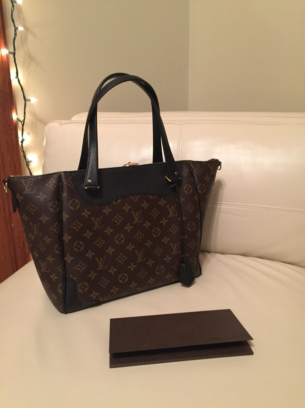 23f97f9aa0e2 My new Louis Vuitton Estrela MM handbag in Noir. I love the black accents  with the monogram canvas!