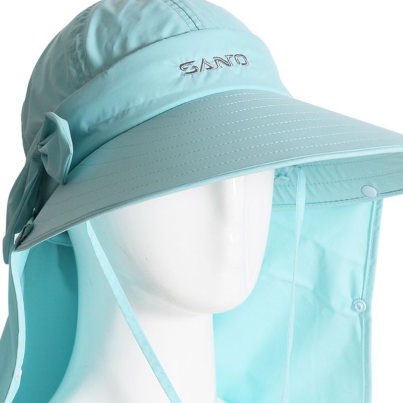 9d86d5f2 New Outdoor Sport Hats Hiking Camping Visor Hat 2017 UV Sun Protection Neck  Face Flap Caps Wide Brim Protcet Cap