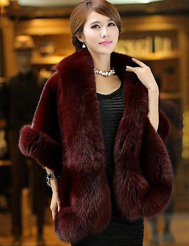Cappotto di pelliccia Da donna Casual Semplice Autunno
