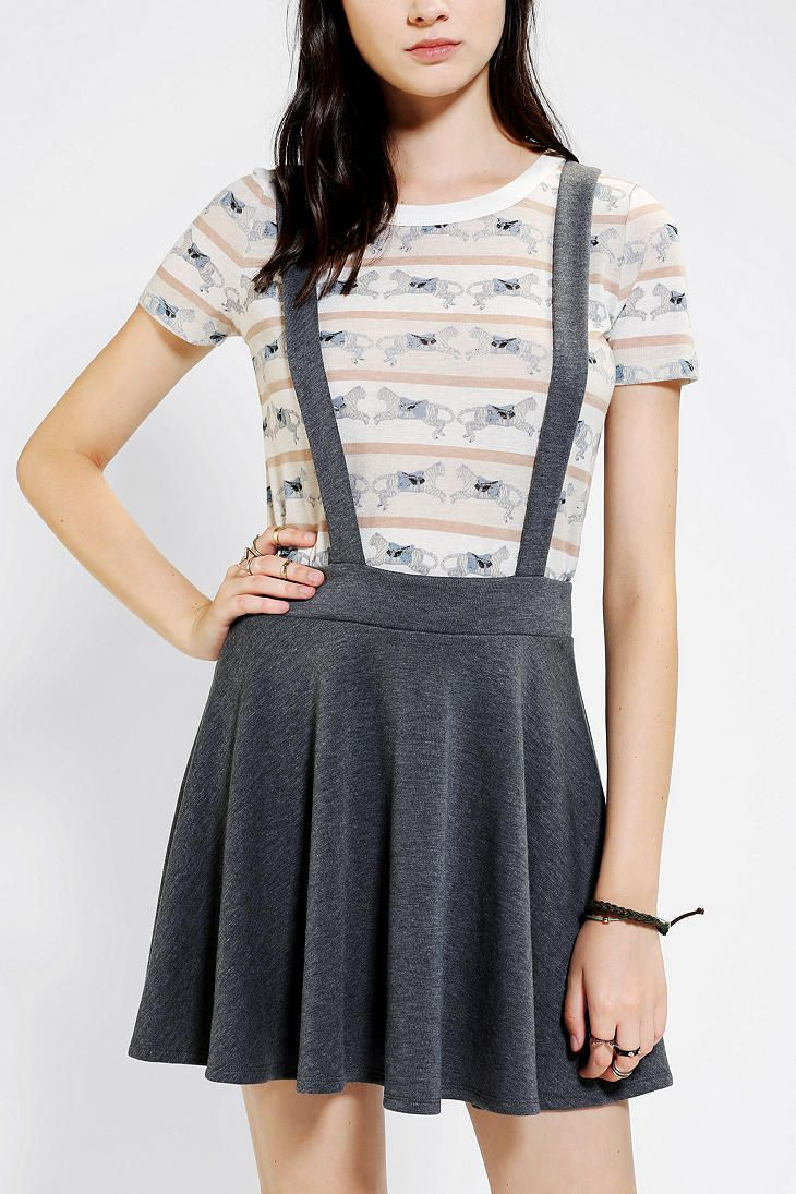 83532ad1d3 Coincidence & Chance Ponte Knit Suspender Skirt Suspender Skirt, Short  Skirts, Urban Outfitters