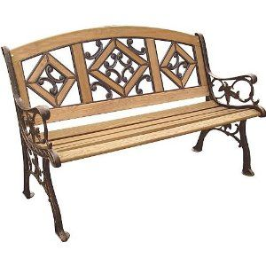 Visit The Home Depot To Buy Florence Wood Inlay Park Bench