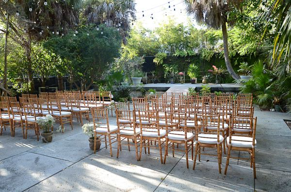 Tropical Garden Wedding Ceremony In The Courtyard At Key West Forest Botanical