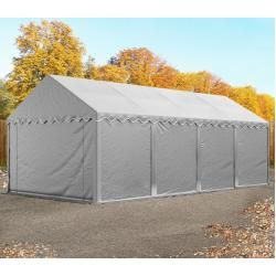 Photo of Storage tent 4x8m Pvc 550 g / m² gray waterproof shelter, storage toolport