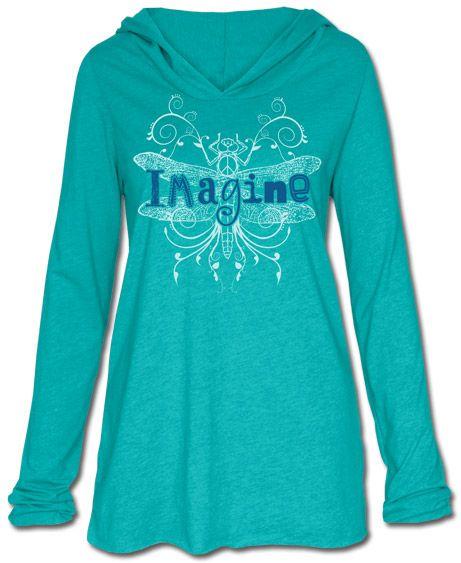 Imagine Organic Yoga Hoody: Soul Flower Clothing