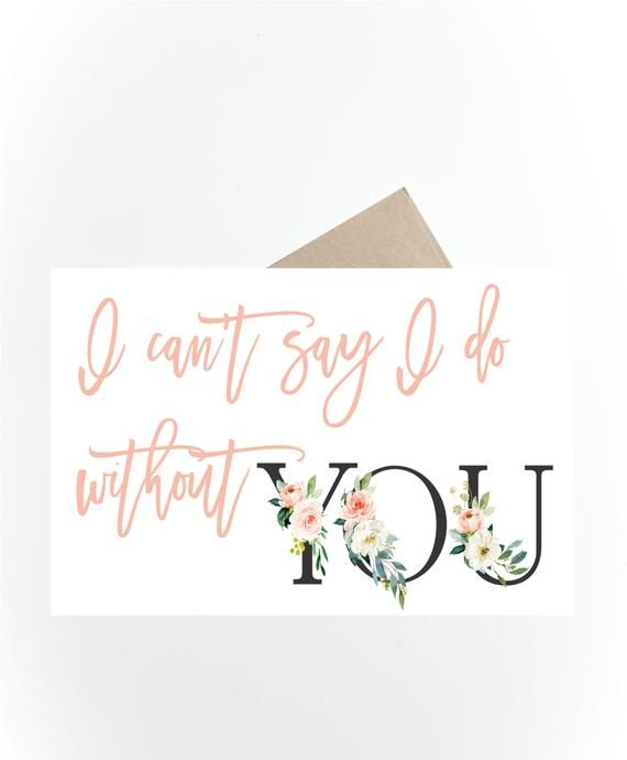 picture regarding Bridesmaid Proposal Printable identify Printable Bridesmaid Card, I cant Say I do Devoid of your self
