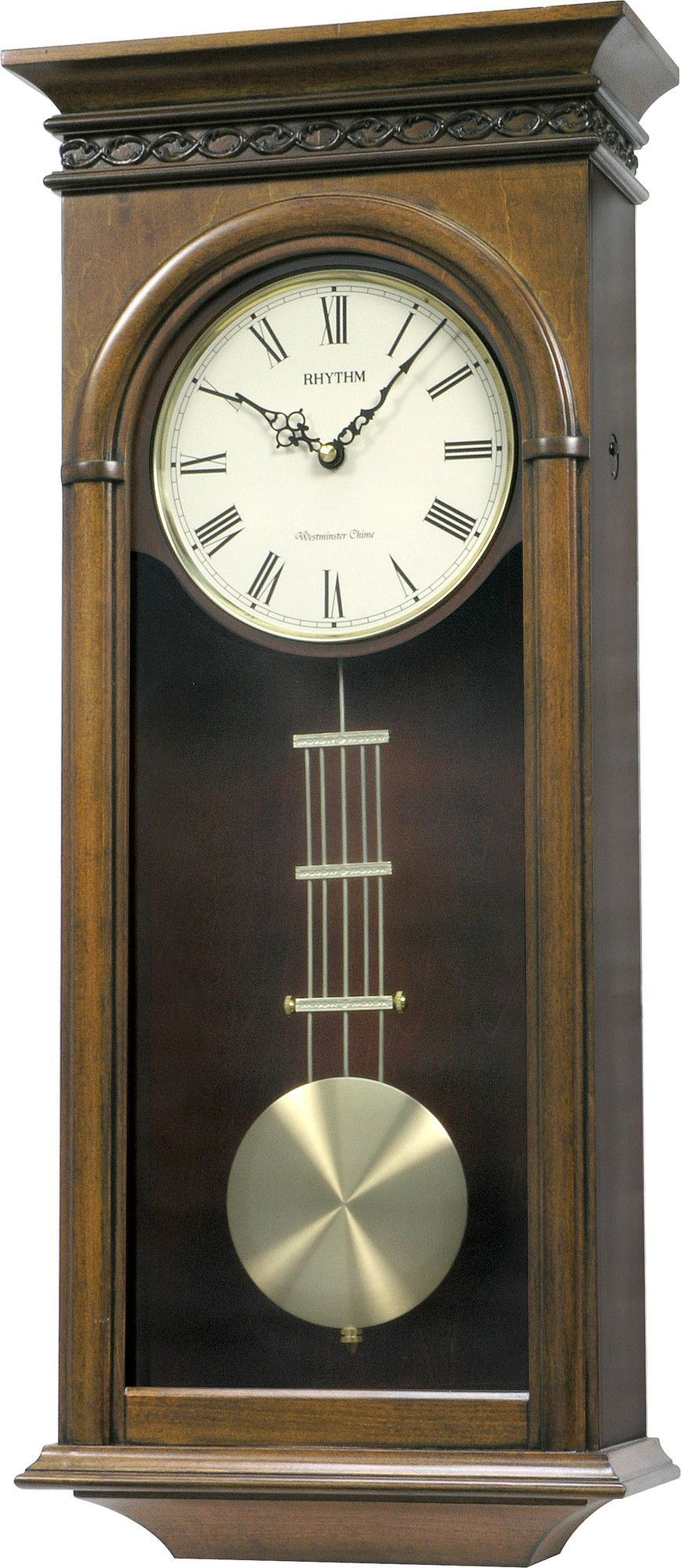 Rhythm Wsm Carlisle Wall Clock Chiming Wall Clocks Wall Clock Clock
