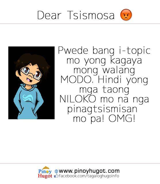 Hugot quotes para sa tsismosa | Pinoy Hugot | Hugot quotes, Tagalog
