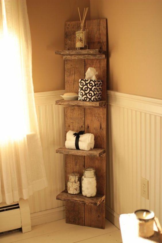 nice Idée décoration Salle de bain - Étagère en palette de bois