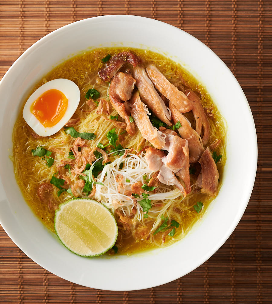 Soto Ayam Indonesian Chicken Noodle Soup Recipe In 2020 Homemade Noodles Chicken Recipes Chicken Noodle Soup