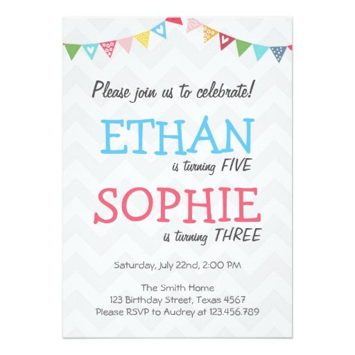 Joint Birthday Invitations