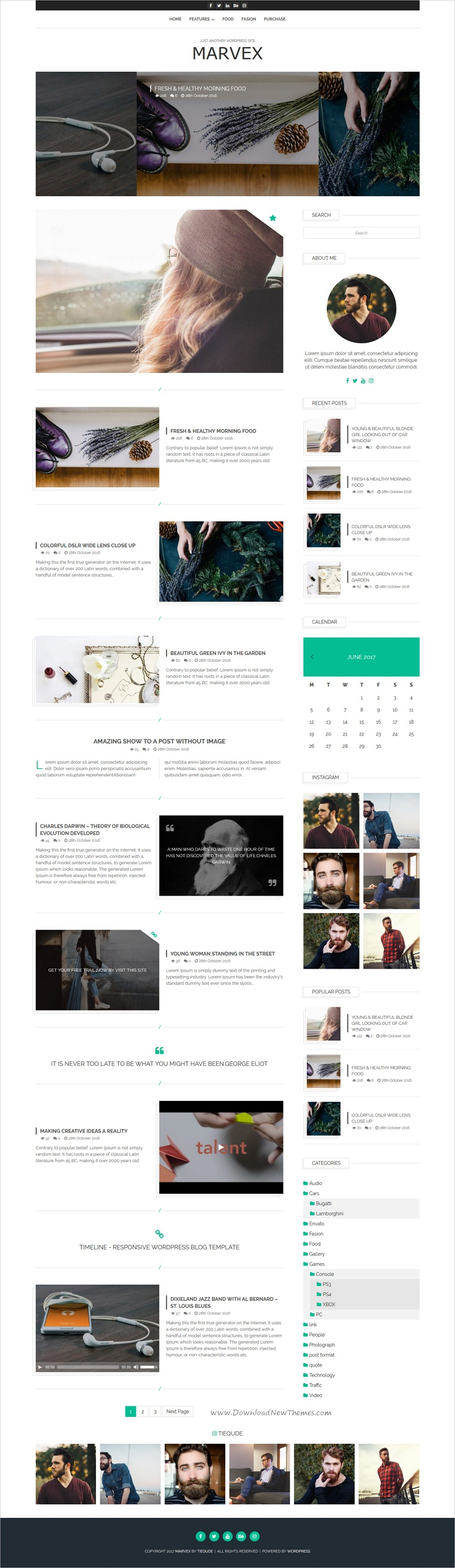 Marvex is clean and modern design responsive #WordPress #blog theme for creative #writer and bloggers website download now➩ https://themeforest.net/item/marvex-responsive-wordpress-blog-theme/19625797?ref=Datasata