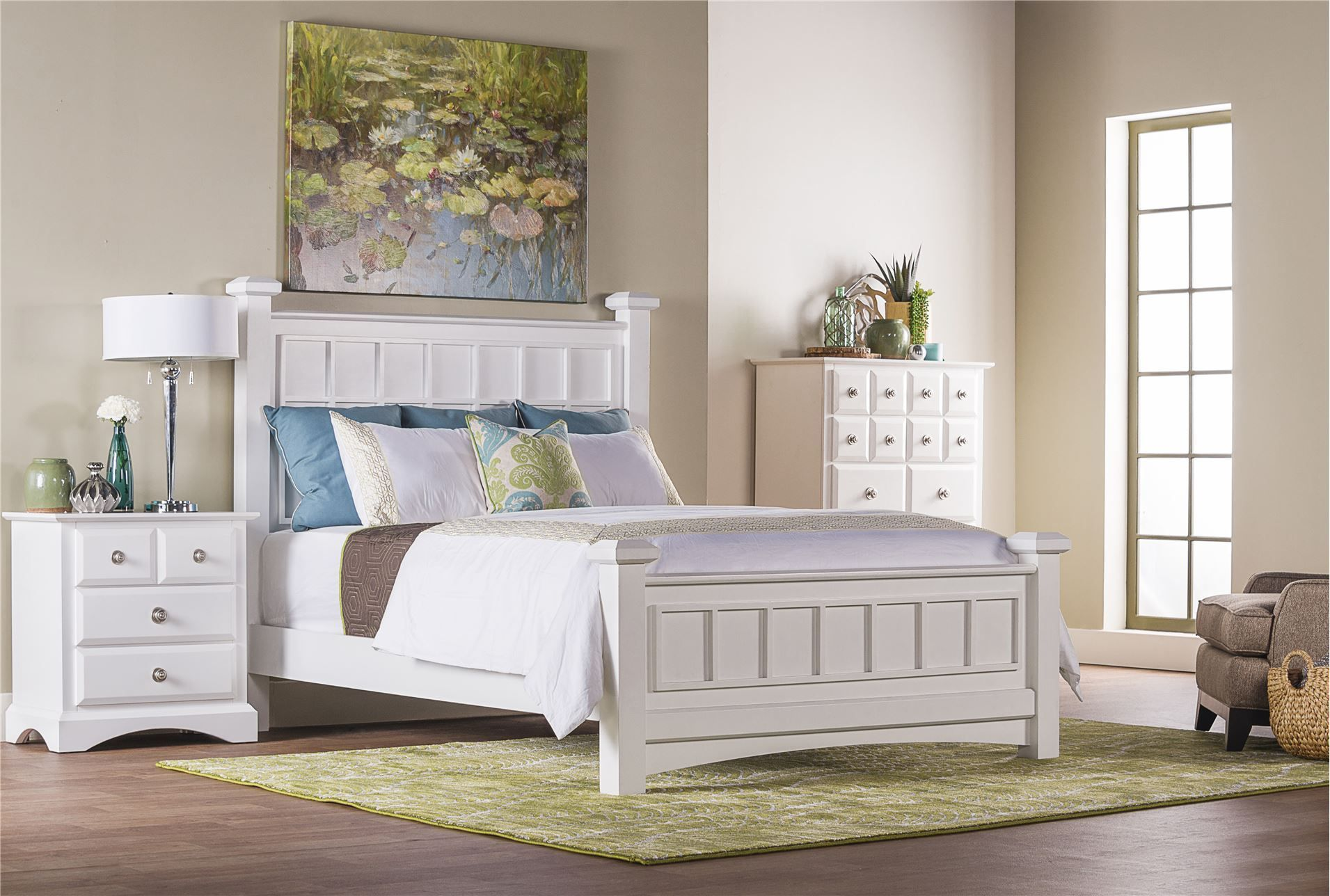Best Palazzo White California King Poster Bed Bed Furniture 400 x 300