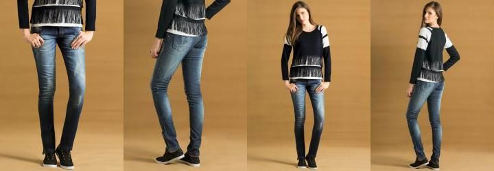 Calça Skinny Jeans com Zíper na Perna