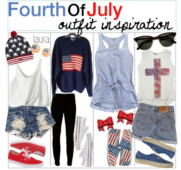 """fourth of july outfits . ♥"" by the-amazing-tip-chickas ❤ liked on Polyvore"