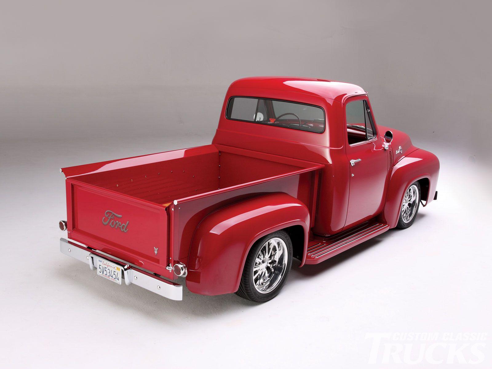 1955 ford f100 pickup truck custom paint job