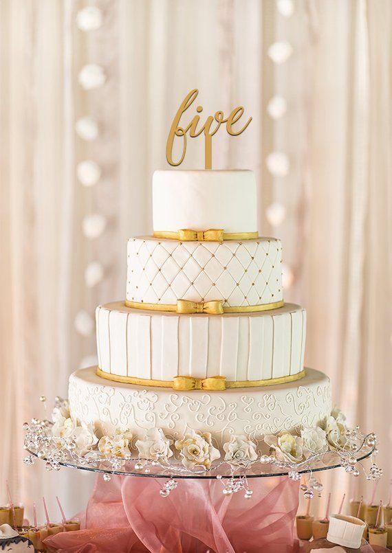 Five Cake Topper
