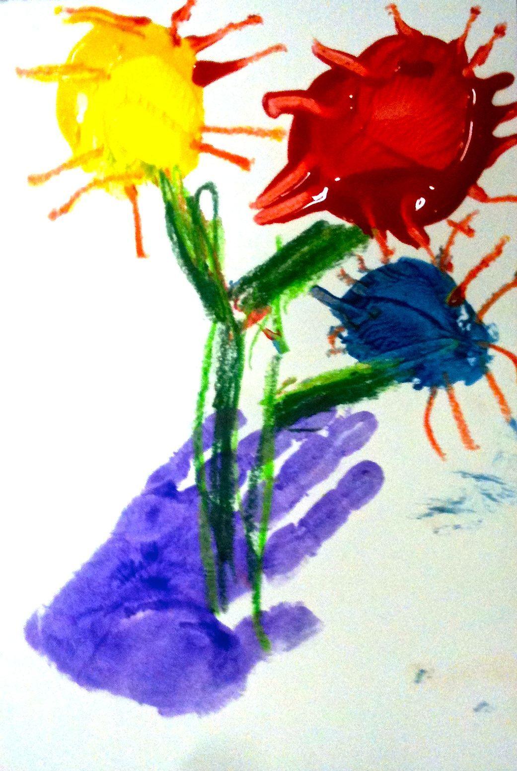 Kids Art Market: Color Wheel hand prints with Picasso | preschool ...