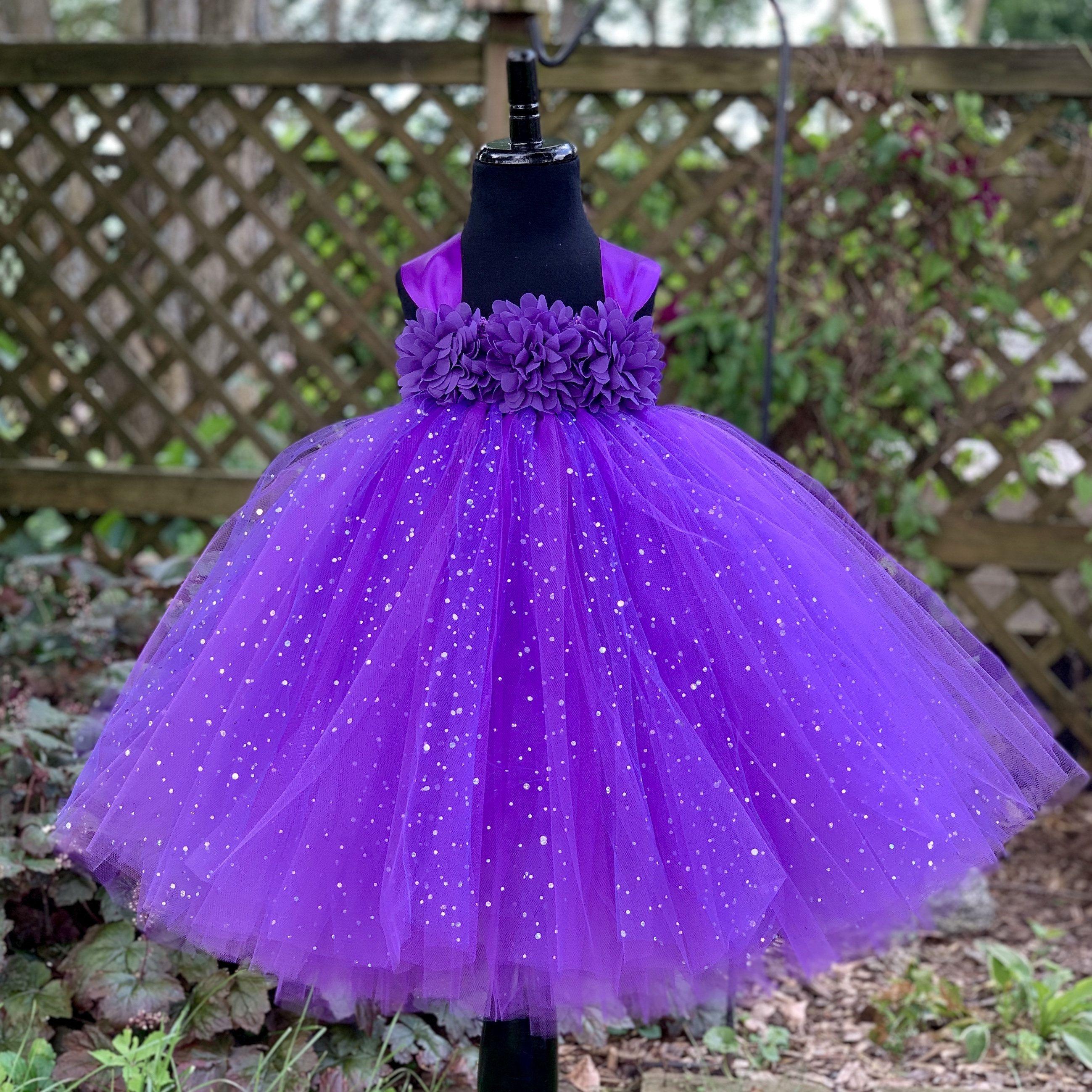 Purple Princess Tutu Dress For Girls Sparkle Dot Tulle Etsy Flower Girl Dresses Tulle Purple Flower Girl Dress Flower Girl Dresses Tutu [ 2599 x 2598 Pixel ]