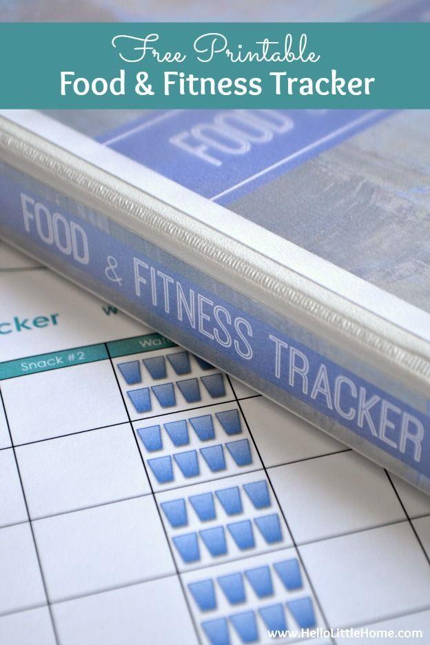Free Printable Food And Fitness Tracker Printables