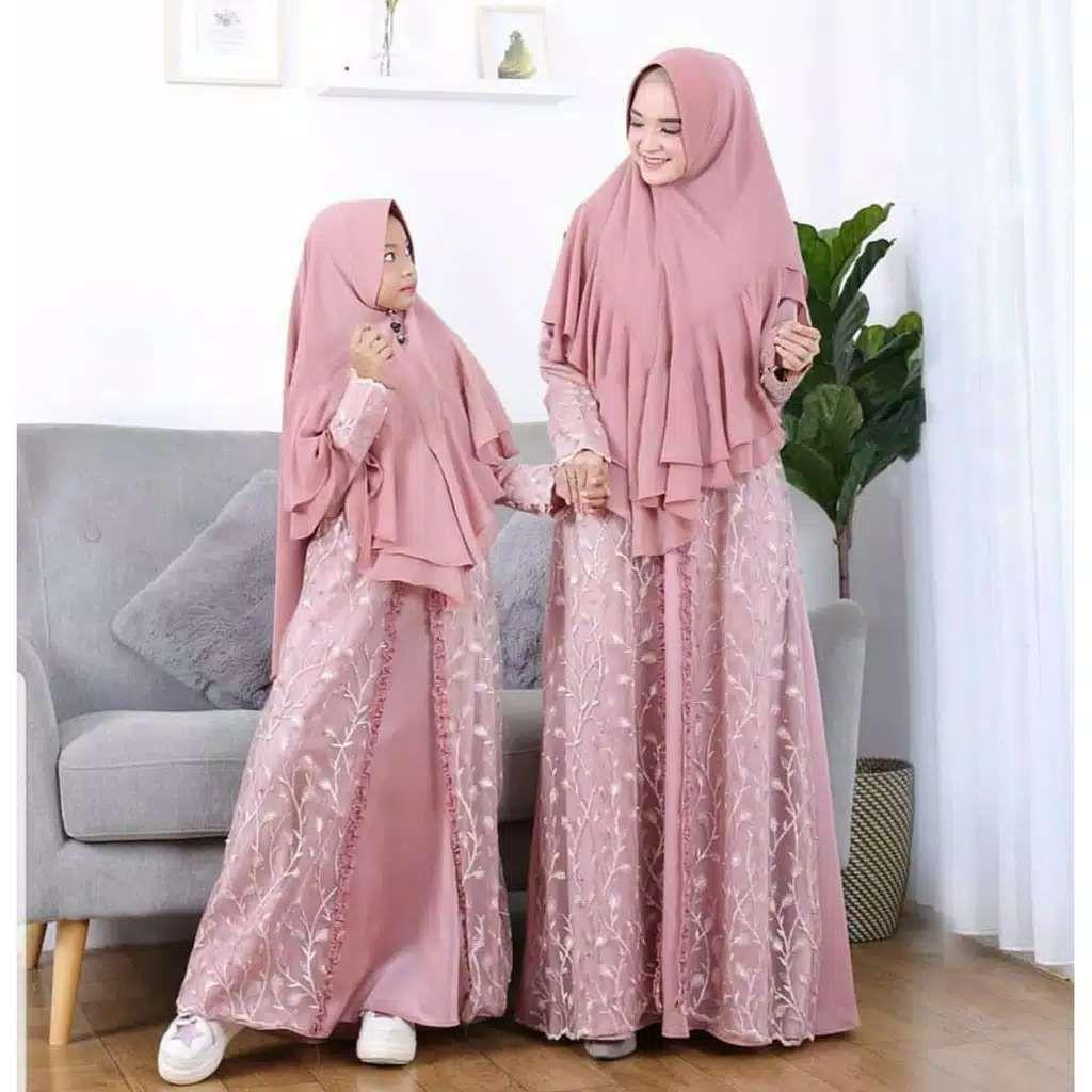 Model Gamis Pesta Couple Selow-Baju Gamis Terbaru Online di 9