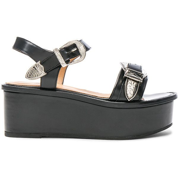 For Sale Cheap Sale 2018 TOGA PULLA Velvet-embellished wedge sandals Free Shipping High Quality 2018 For Sale Sale Largest Supplier CKc9Ci