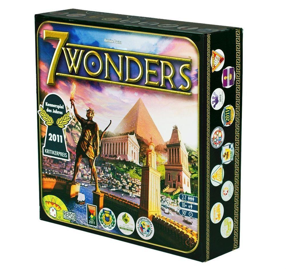 Asmodee 7 Wonders Board Game 7 wonders board game, Fun