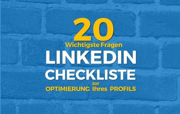 Die 20 wichtigsten Punkte Ihrer Linkedin Profil Optimierung [Infographic]  #LinkedIn #LinkedIn Profil #Personal Branding #Recruiter Branding