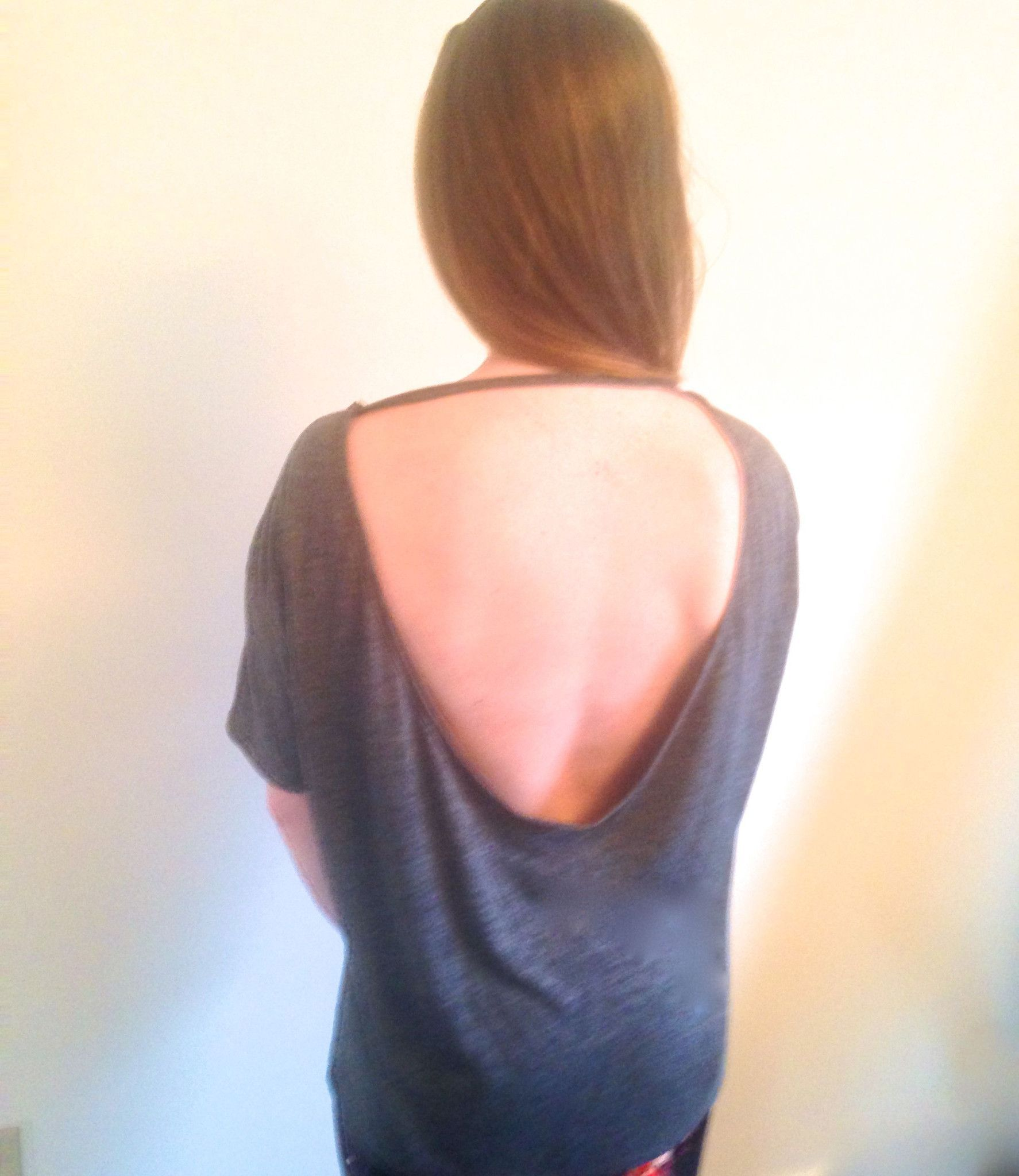 Open Back Ballet Gray Heather