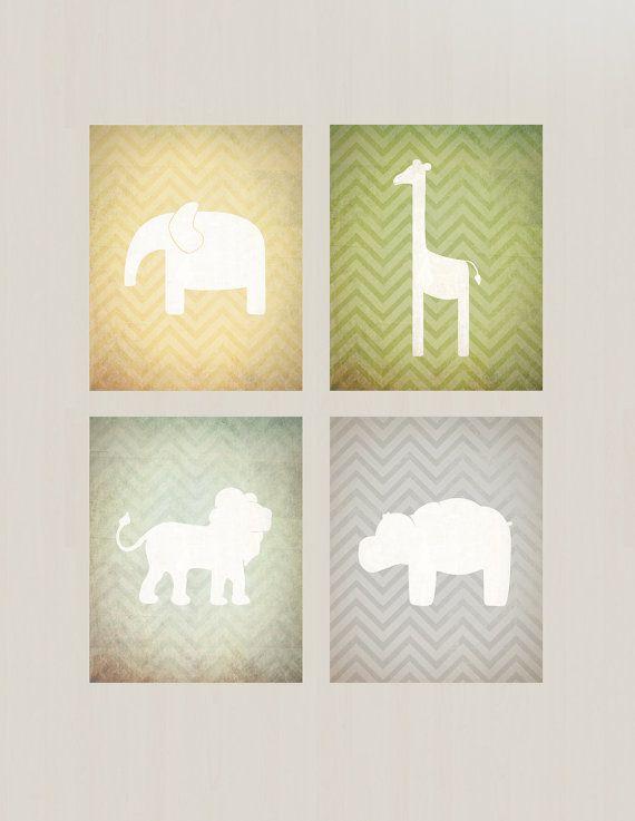 Safari Nursery Printables - Vintage Inspired, Lion, Elephant ...