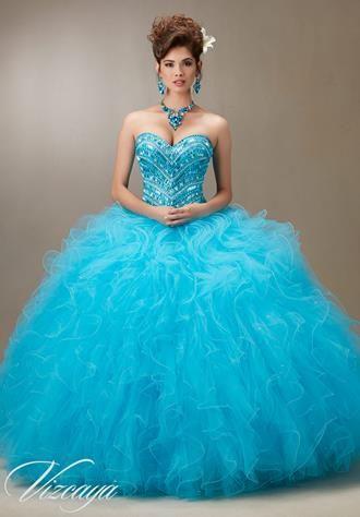 Ballkleid Vizcaya Collection / Mori Lee Blaues Kleid Blaues ...
